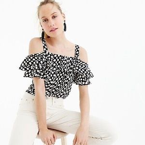 J. Crew Collection | Off the Shoulder Silk Blouse
